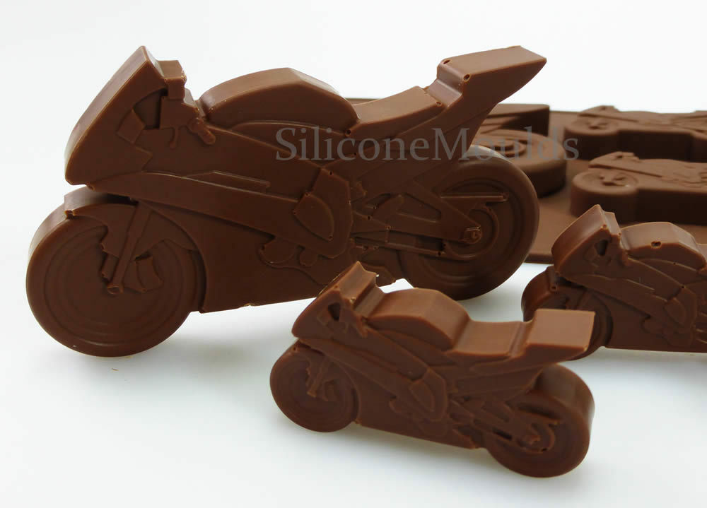 Motorcycle Motorbike Novelty Chocolate Silicone Cake Lolly