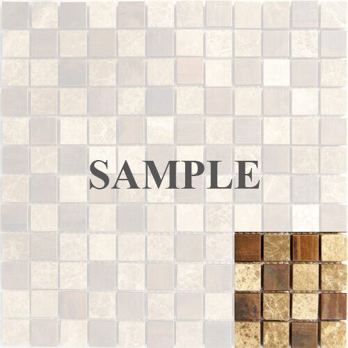 mosaic tile bathroom backsplash sample emperor marble copper metal blends mosaic tile 19662
