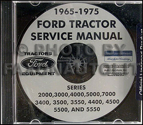 ford tractor shop manual cd 2000 3000 4000 5000 7000