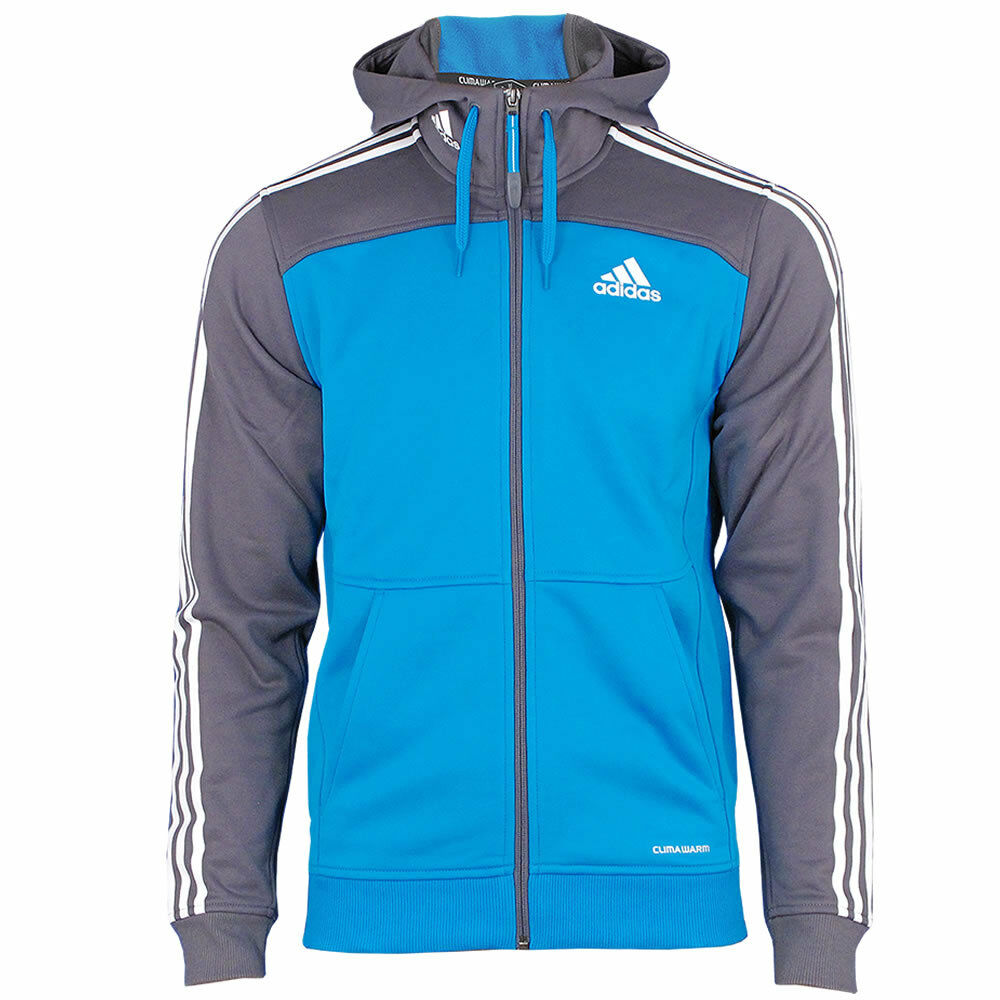 adidas herren outdoor fleece jacke mit kapuze sharpblue. Black Bedroom Furniture Sets. Home Design Ideas