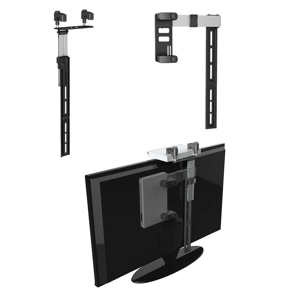 Foldable Hidden Cable Box Dvd Bluray Dvr Clamp Mount