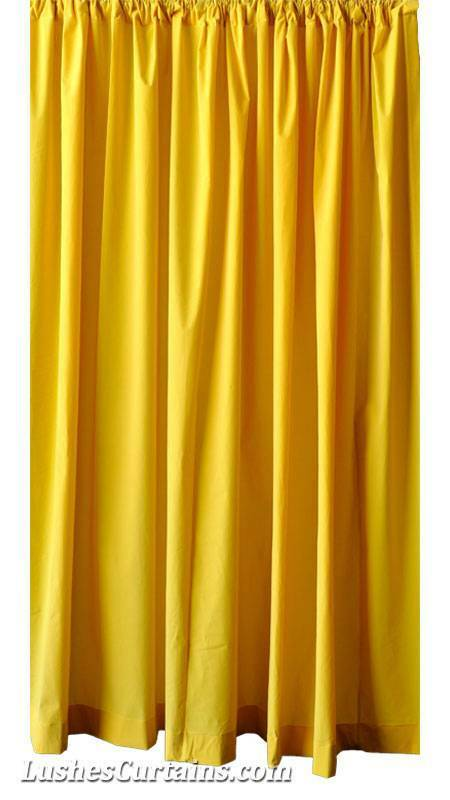 Custom 16 ft High Bright Yellow Velvet Curtain Extra Long Theatrical ...