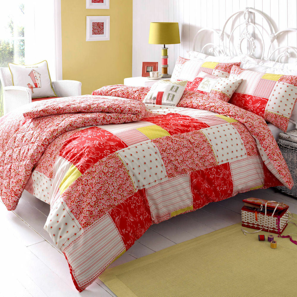 kirstie allsopp luella strawberry floral designer duvet. Black Bedroom Furniture Sets. Home Design Ideas