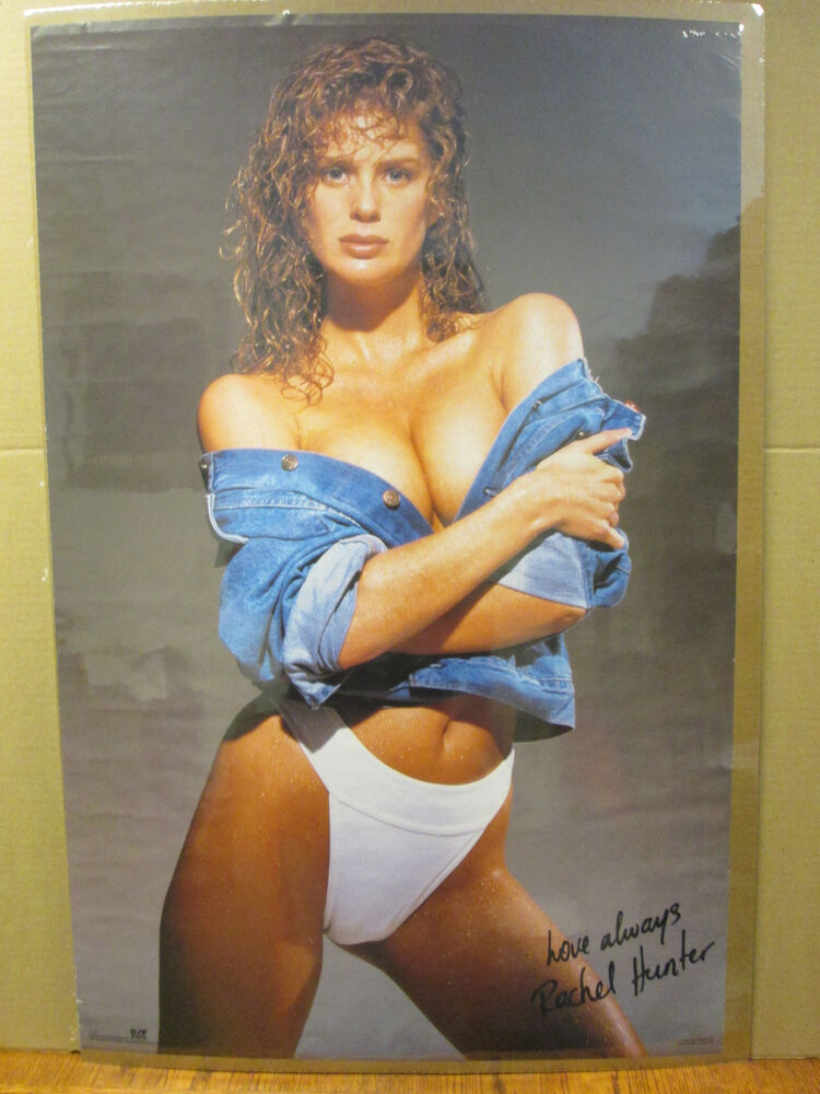 1990 Rachel Hunter Hot Girl Man Cave Car Garage Original