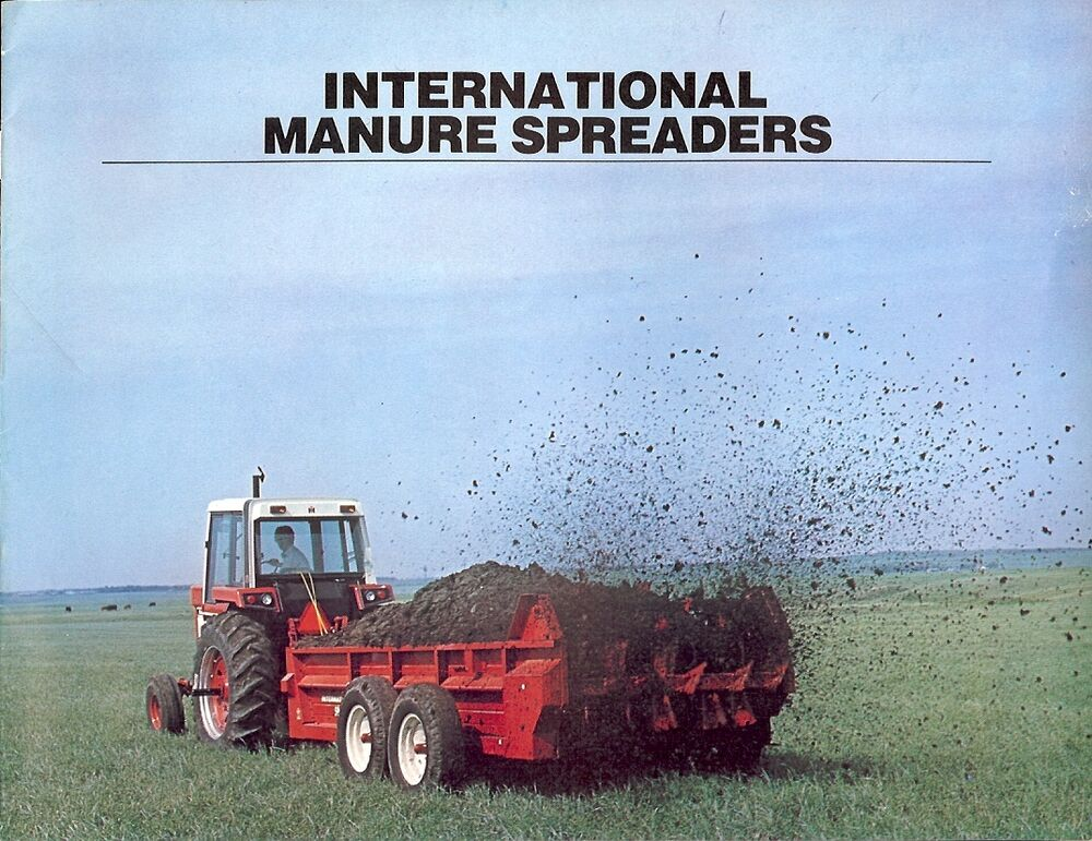 Ih Manure Spreader : Farm equipment brochure ih