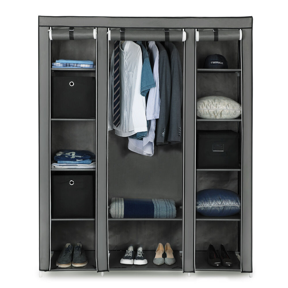 kleiderschrank faltschrank garderoben schrank stoffschrank. Black Bedroom Furniture Sets. Home Design Ideas