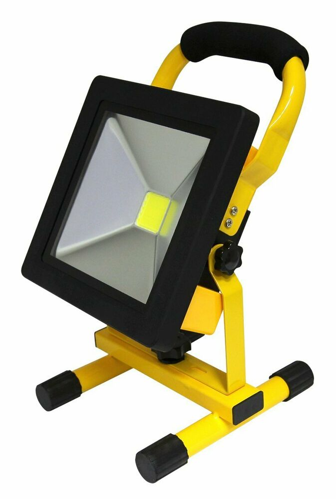 20w portable led work light cordless rechargeable ip65 12v. Black Bedroom Furniture Sets. Home Design Ideas