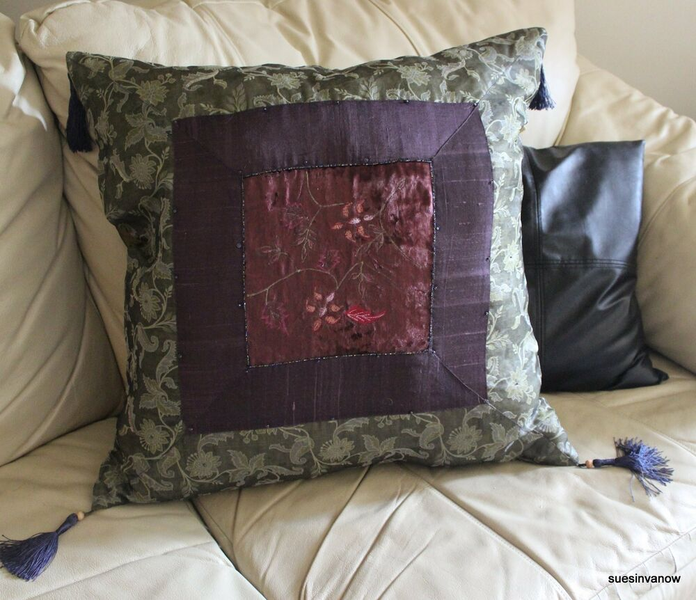 Decorative Pillow Covers 26x26 : Plum Floor Pillow Cover Case Throw Sittting Accent Decorative Designer 26x26 eBay