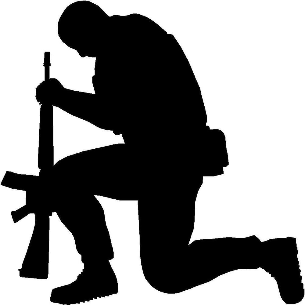 how to draw a soldier kneeling