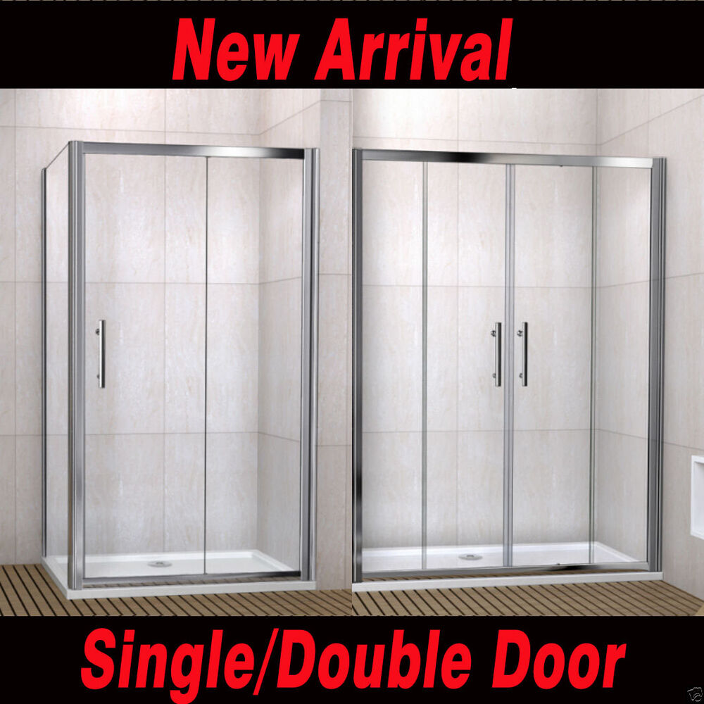 Single Double Sliding Walk In Shower Enclosure Screen Door