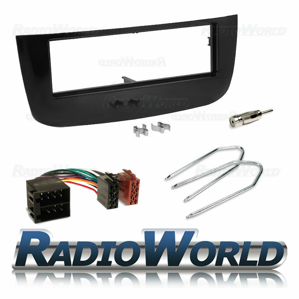 Fiat Punto Evo Stereo Cd Radio Fitting Kit Black Fascia Facia Panel Mazda 3 Car Wiring Loom Ebay Adapter