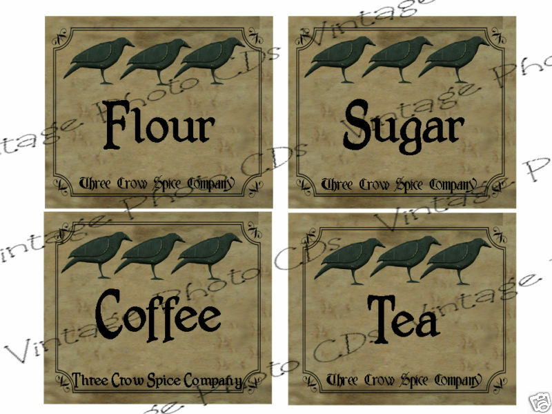 Free Country Kitchen Labels