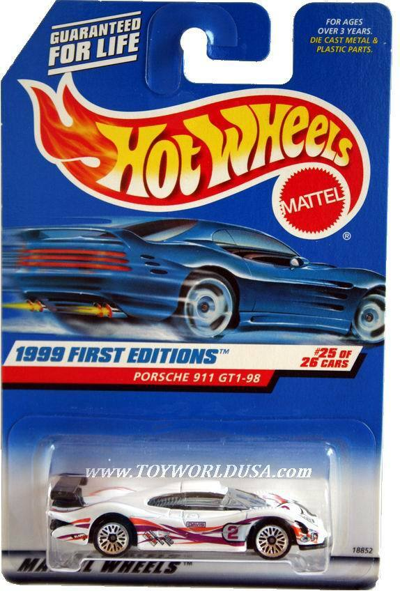 1999 hot wheels 676 first editions 25 porsche 911 gt1 98. Black Bedroom Furniture Sets. Home Design Ideas