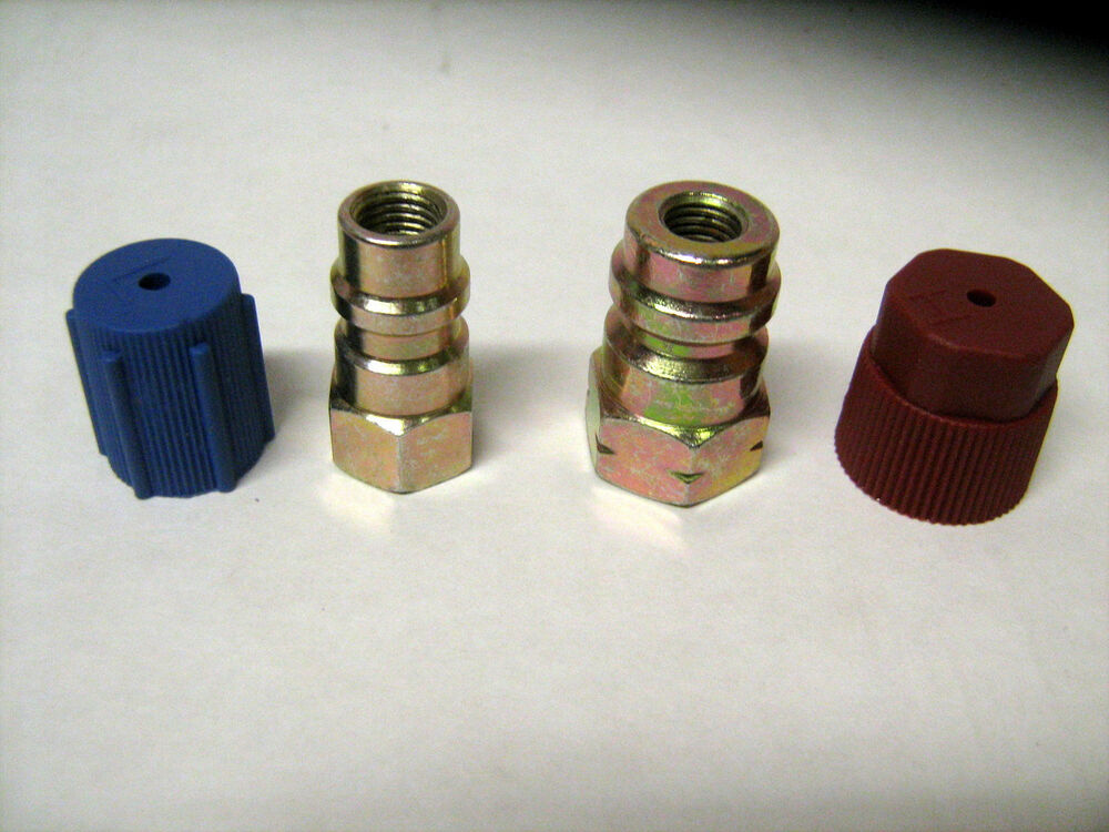 12 to R-134A STEEL RETROFIT ADAPTER FITTING KIT 1/4