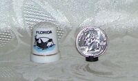 Pre-owned Collectible Porcelain FLORIDA SOUVENIR Sewing Thimble 1 inch tall