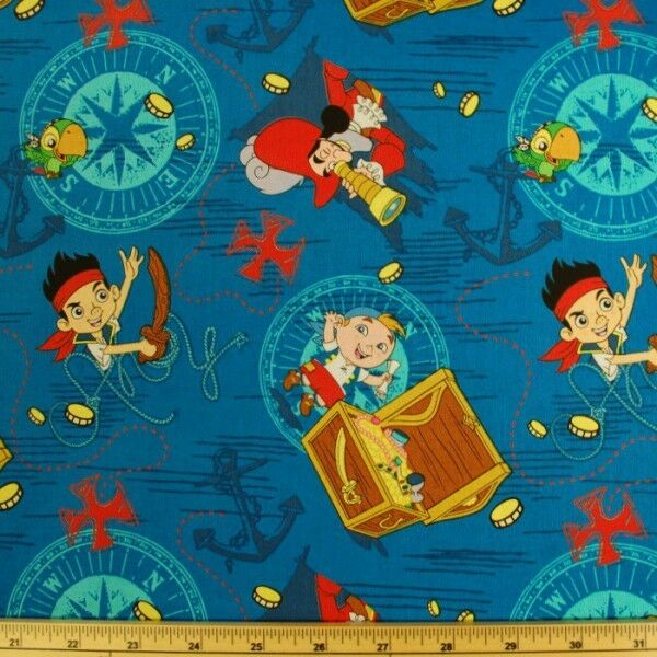 Sale disney jake and the neverland pirates treasure ahoy for Kids pirate fabric