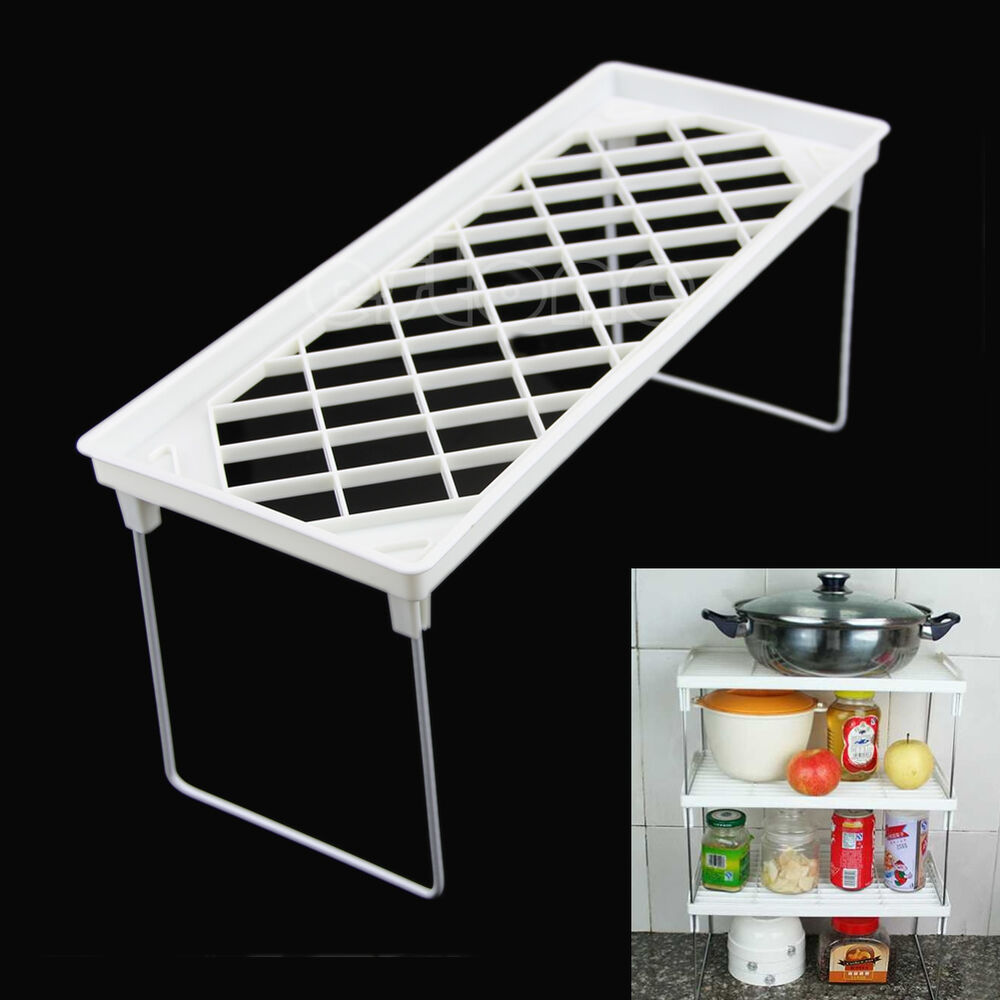 Useful Kitchen Folding Storage Racks Shelf Bathroom