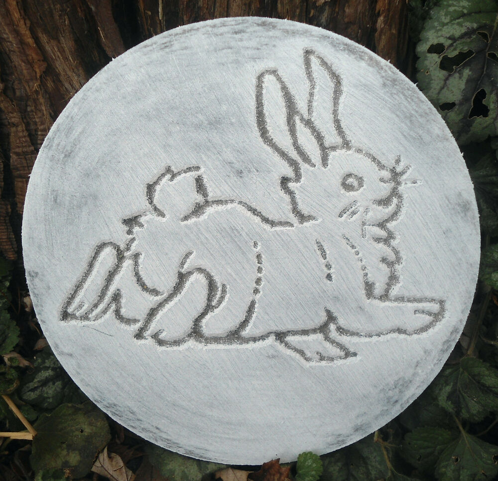 plastic leaping bunny rabbit plaque mold garden ornament. Black Bedroom Furniture Sets. Home Design Ideas
