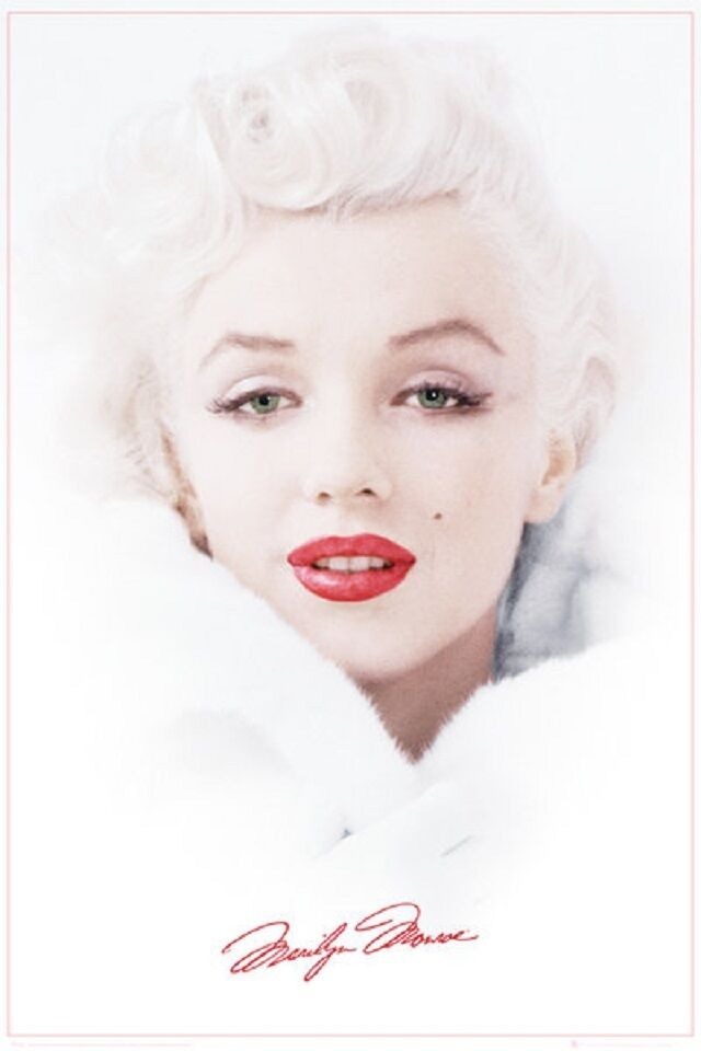 marilyn monroe poster winter white iconic art print 24x36 ebay. Black Bedroom Furniture Sets. Home Design Ideas