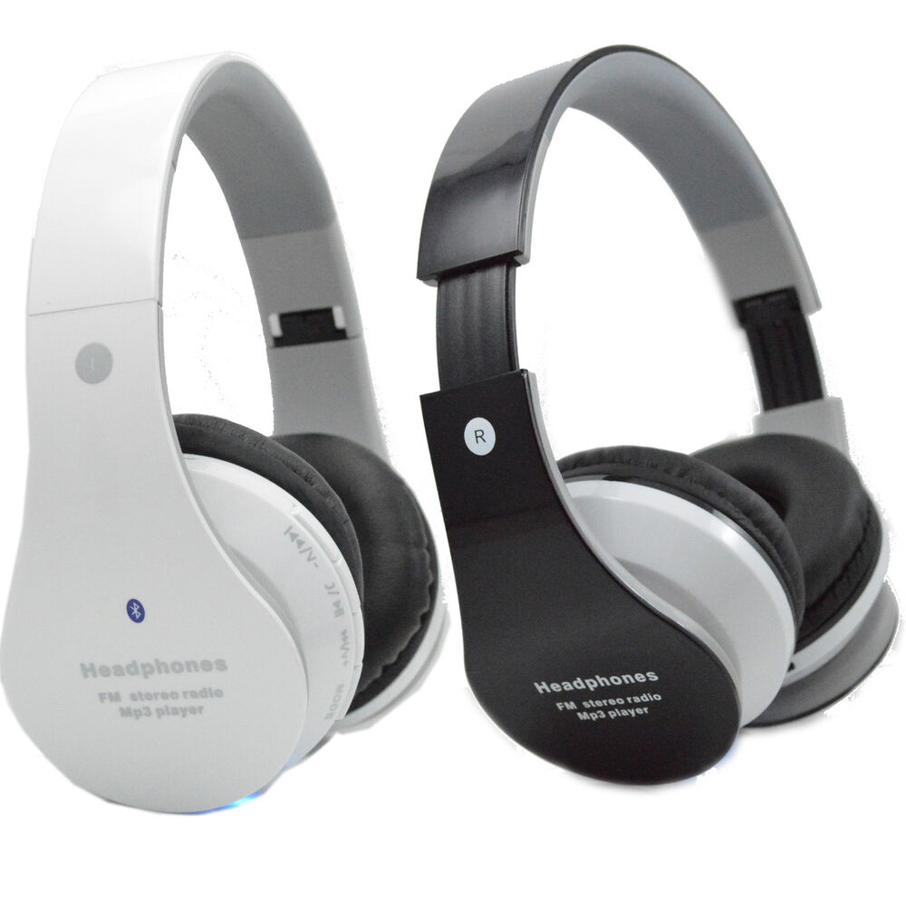 wireless bluetooth stereo headset w fm radio headphones. Black Bedroom Furniture Sets. Home Design Ideas
