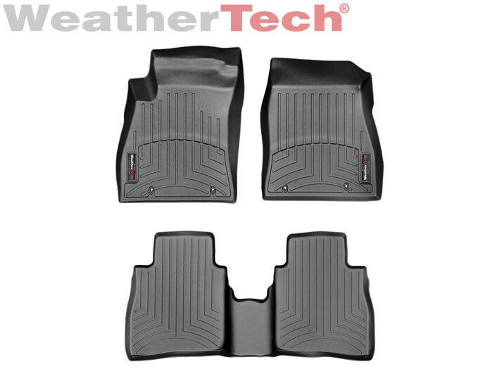 weathertech custom floor mat floorliner for nissan sentra 2014 2017 black ebay. Black Bedroom Furniture Sets. Home Design Ideas