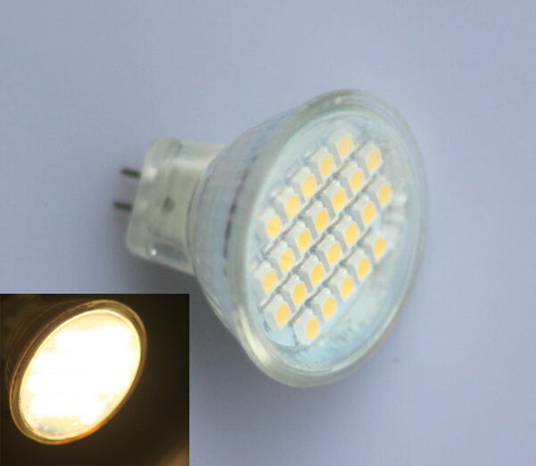 mr11 gu4 3528 smd 24 led spotlight spot light bulb lamp 3600k warm white 12v 1w ebay. Black Bedroom Furniture Sets. Home Design Ideas