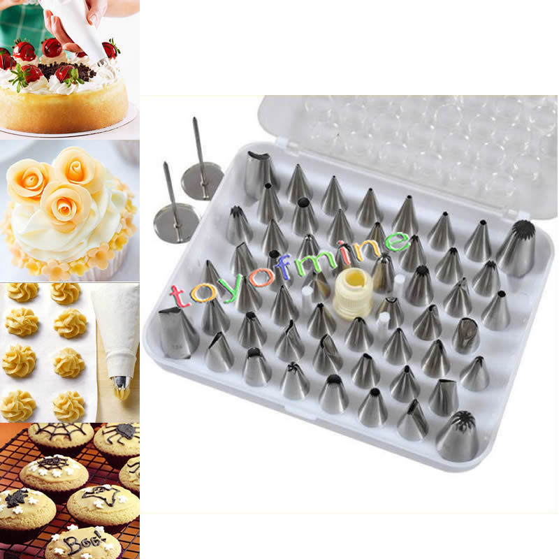 How To Make Cake Decorating Nozzles At Home : 52pcs Icing Piping Nozzles Tips Set Cake Decorating ...