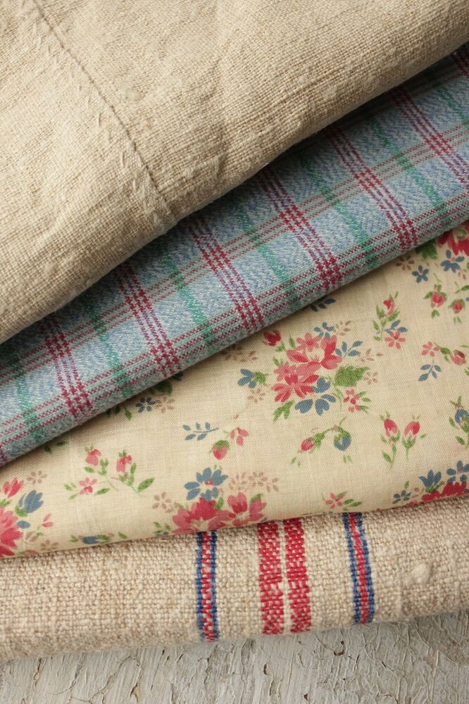 Linen Book Cover Material : Vintage french fabrics antique material project bundle