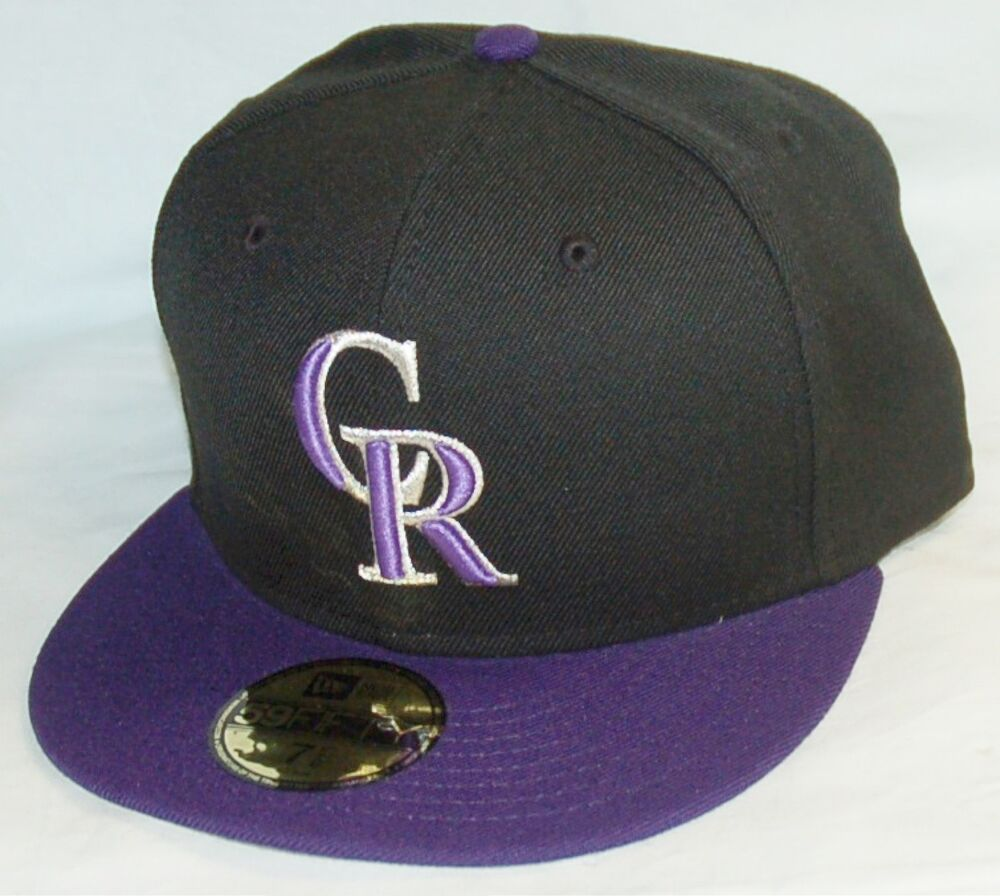 New Era 59fifty Colorado Rockies Baseball Hat Black Fitted