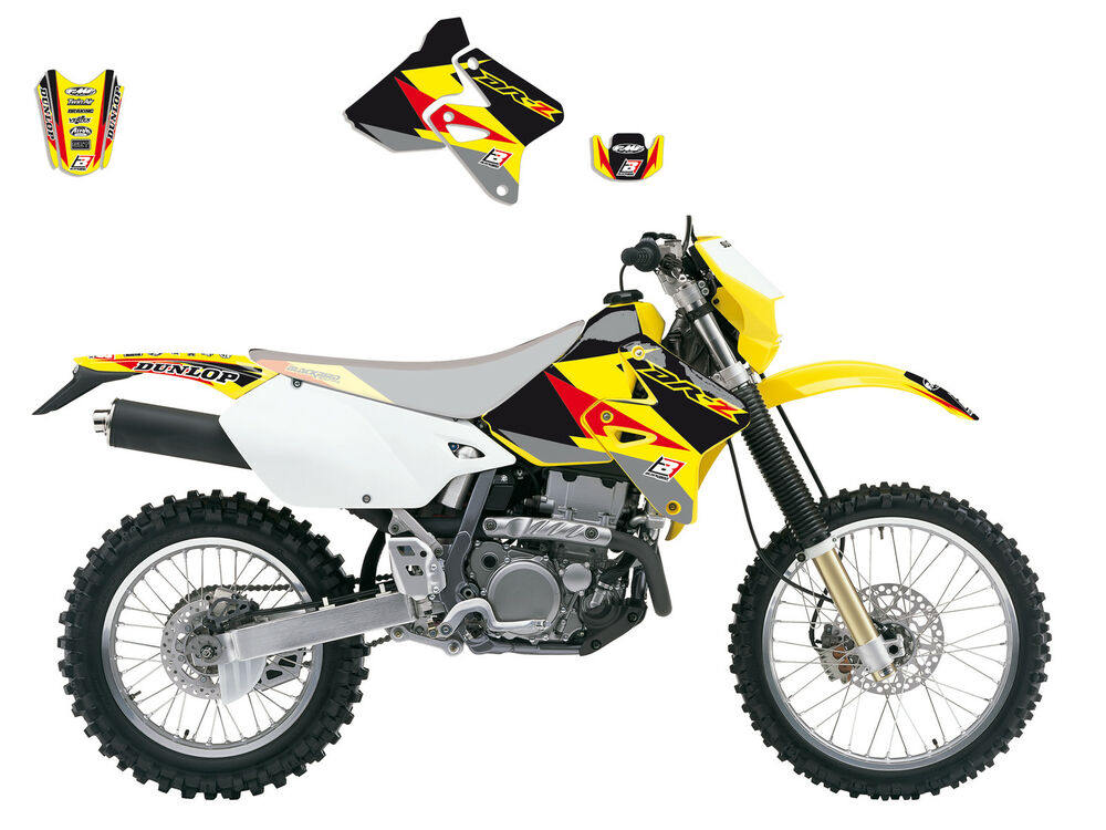 new drz 400 drz400 s e sm stickers graphics kit enduro dream 3 ebay. Black Bedroom Furniture Sets. Home Design Ideas