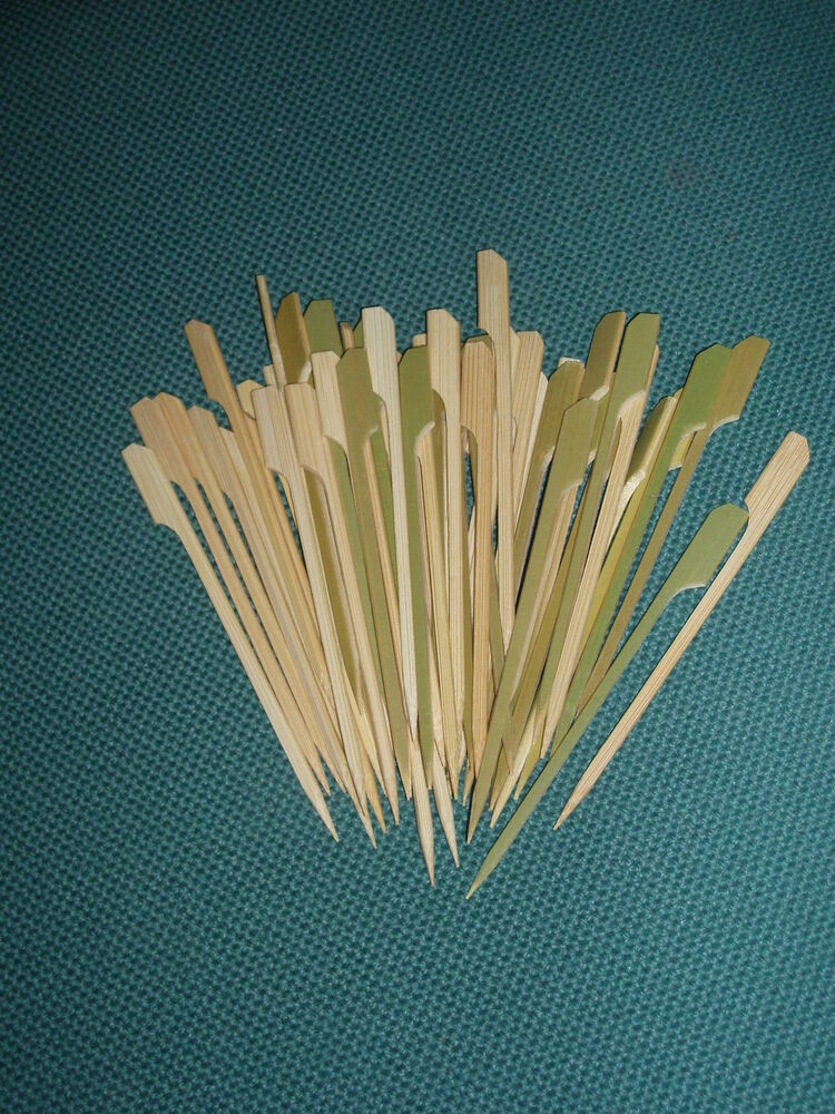 12cm wooden paddle skewers cocktail sticks 25 100 or 250 for Canape cocktail sticks
