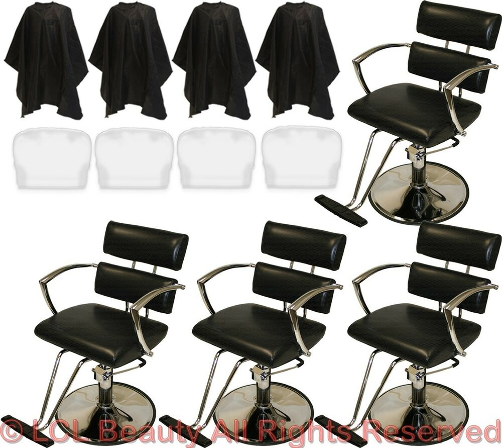4 chrome arms professional hydraulic barber chair styling for Accessories for beauty salon