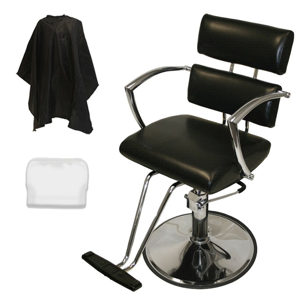 Chrome arms professional hydraulic barber chair styling for Accessories for beauty salon