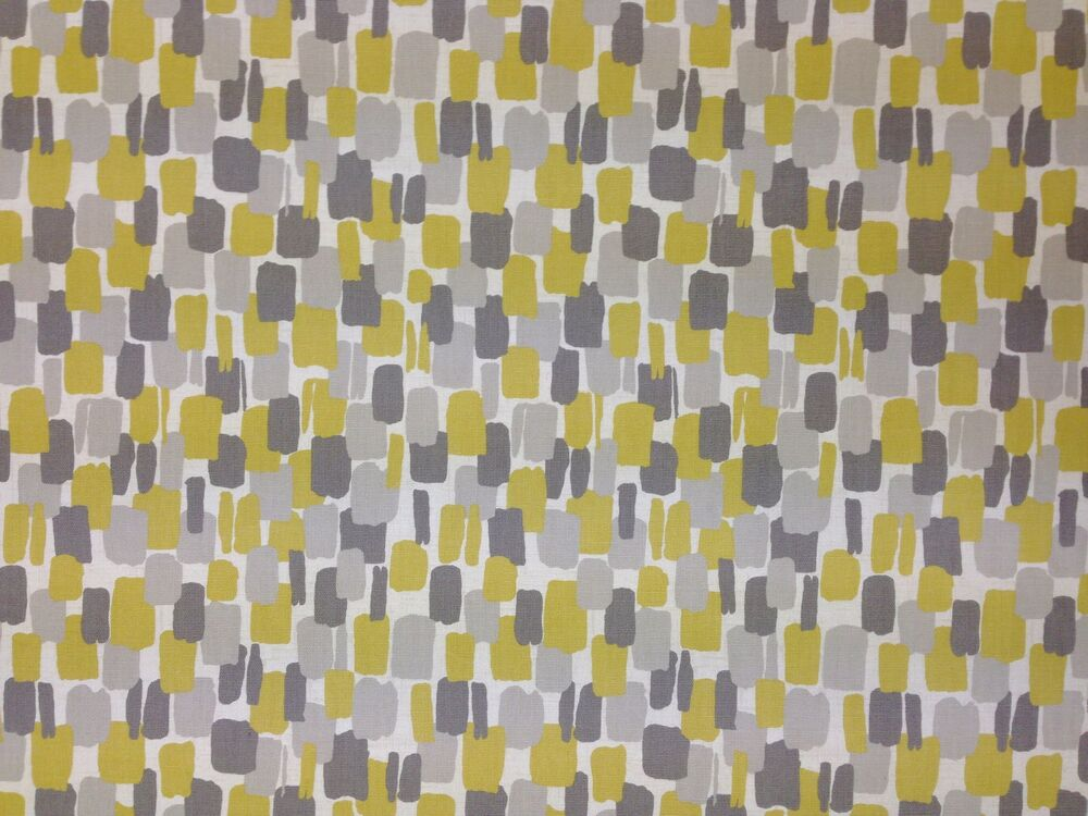 Clarke Clarke Sundowner Chartreuse Yellow Grey Retro Curtain Furnishing Fabric Ebay