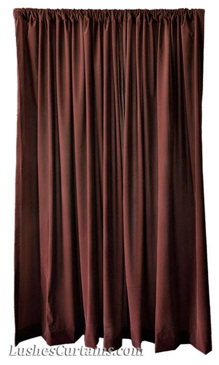 14 H Brown Velvet Curtain Extra Long Panel Tall Wall Room