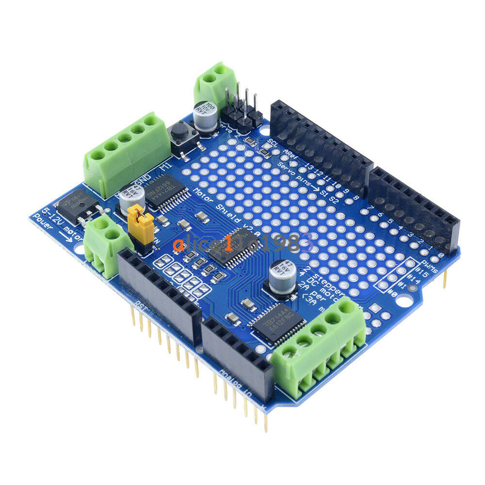 I2c tb6612 stepper motor pca9685 servo driver shield v2 for Arduino and stepper motor