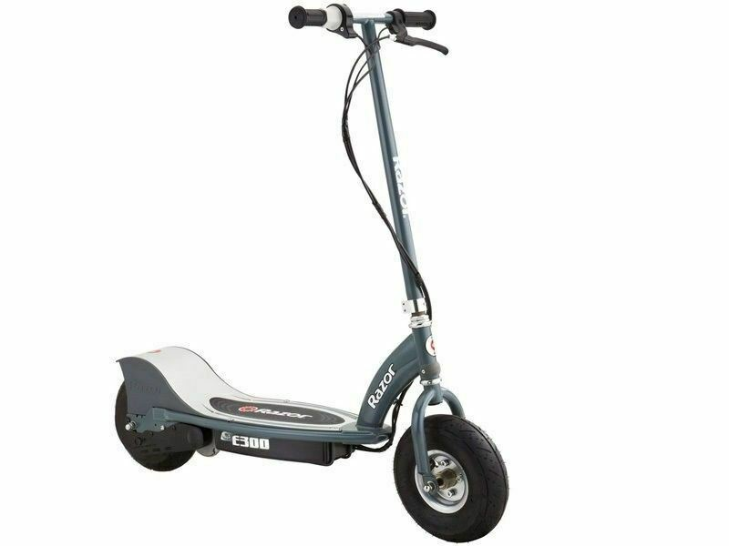 New Razor E300 Electric Scooter Chain Driven Motor Grey