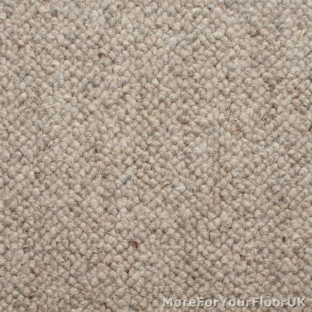 100 Wool Berber Carpet Ash Grey Beige Quality Loop Ebay