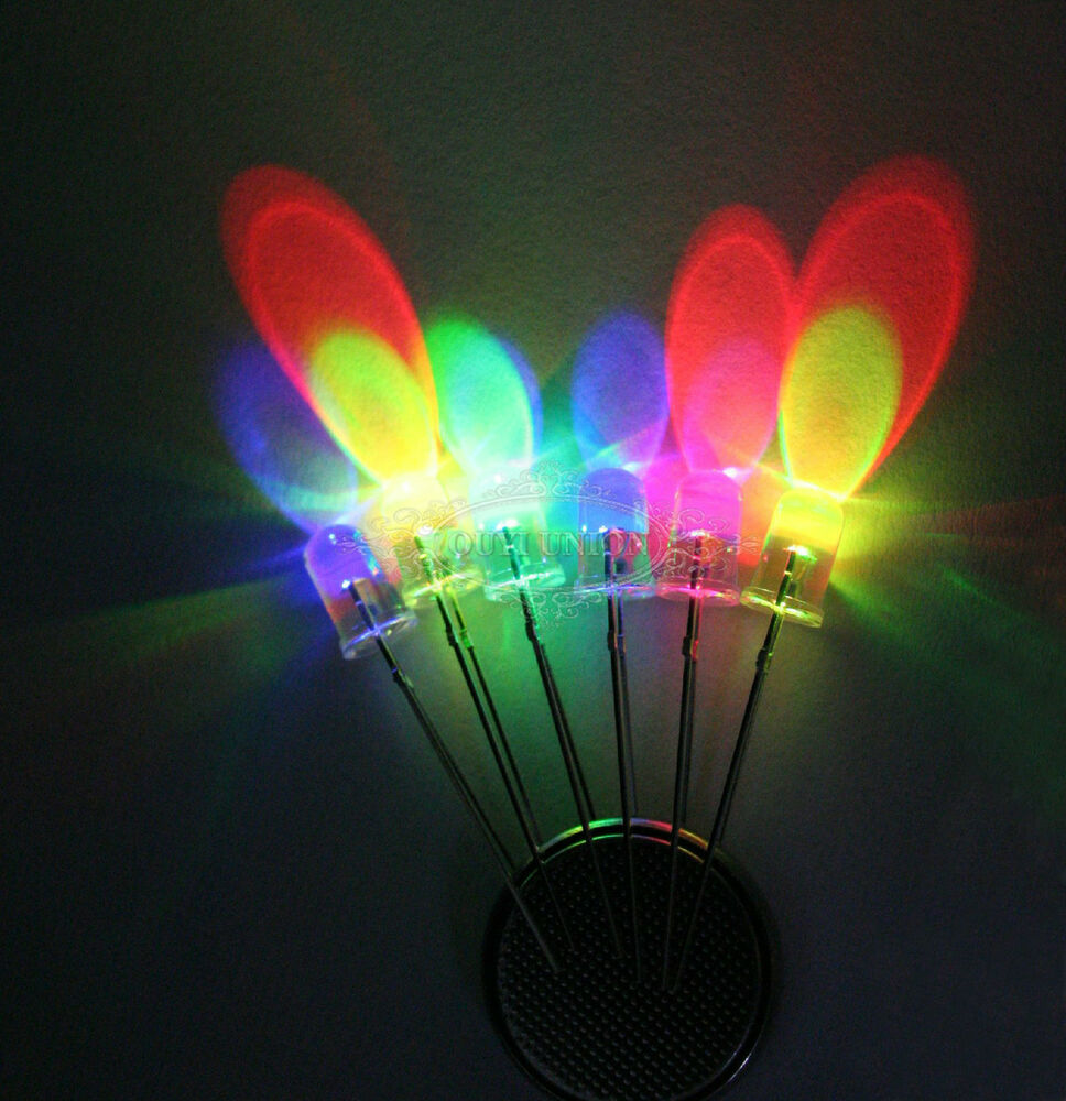 Led Lights Rainbow: New 2-pin 3/5/10mm Rainbow Fast Flash RGB LED Light Lamp