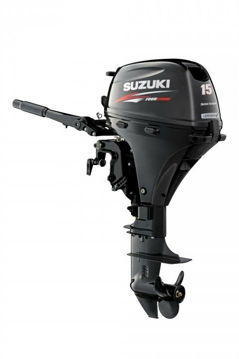 NEW SUZUKI DF 15 AS S HP Four Stroke Outboard Boat Motor ...
