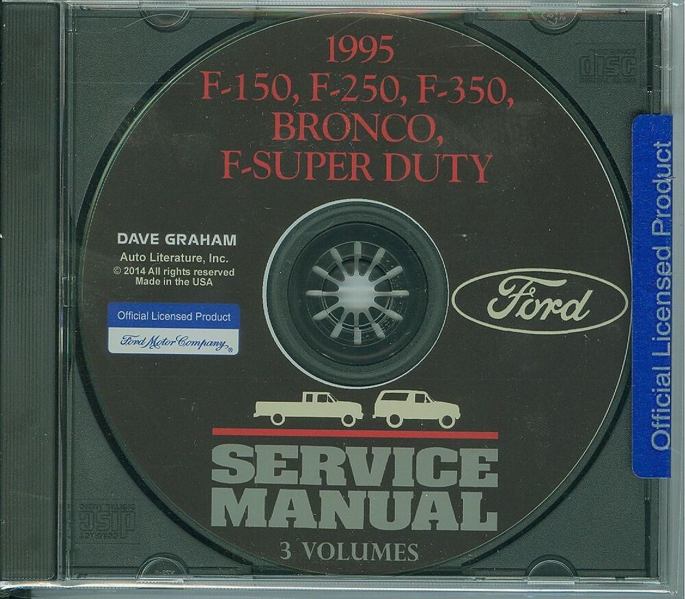 1995 ford truck shop manual on cd bronco econoline f. Black Bedroom Furniture Sets. Home Design Ideas