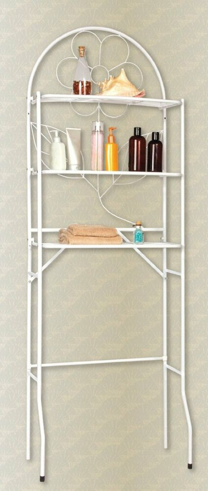 Over The Toilet Bathroom Space Saver 3 Shelf Etagere White Ebay