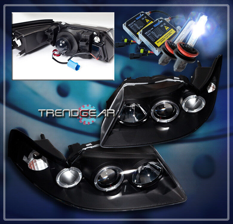 1999 2004 ford mustang halo projector headlight hid 8k black 2000 2001 2002 2003 ebay. Black Bedroom Furniture Sets. Home Design Ideas