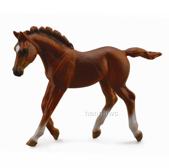 Bay Race Horse / Needle Felted Thoroughbred Horse Toy / Wool  Thoroughbred Toys