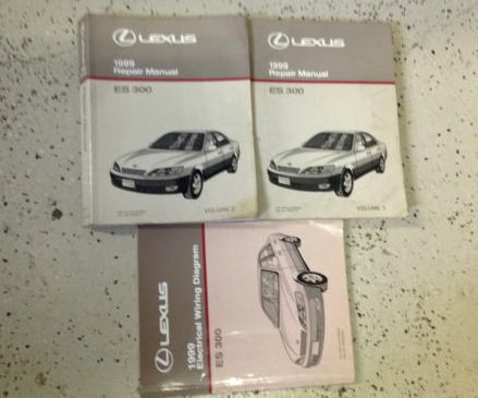1999 lexus es300 es 300 service repair shop manual set w electric wiring diagram ebay. Black Bedroom Furniture Sets. Home Design Ideas