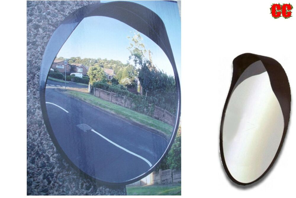 40cm convex drive way road safety mirror visibility blind for Mirror 40cm wide