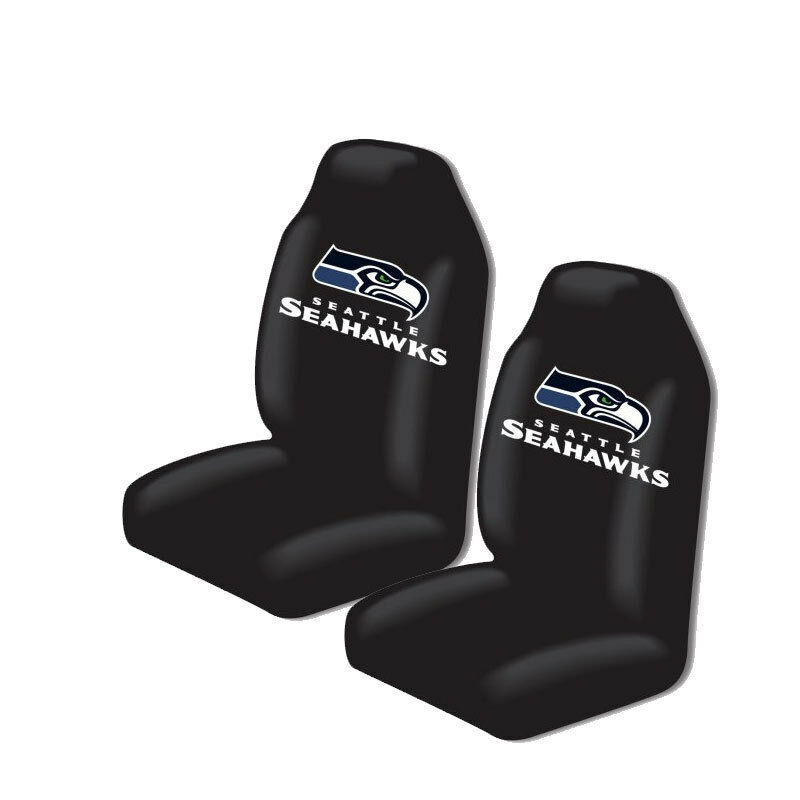new nfl seattle seahawks 2 front universal fit car truck bucket seat covers ebay. Black Bedroom Furniture Sets. Home Design Ideas