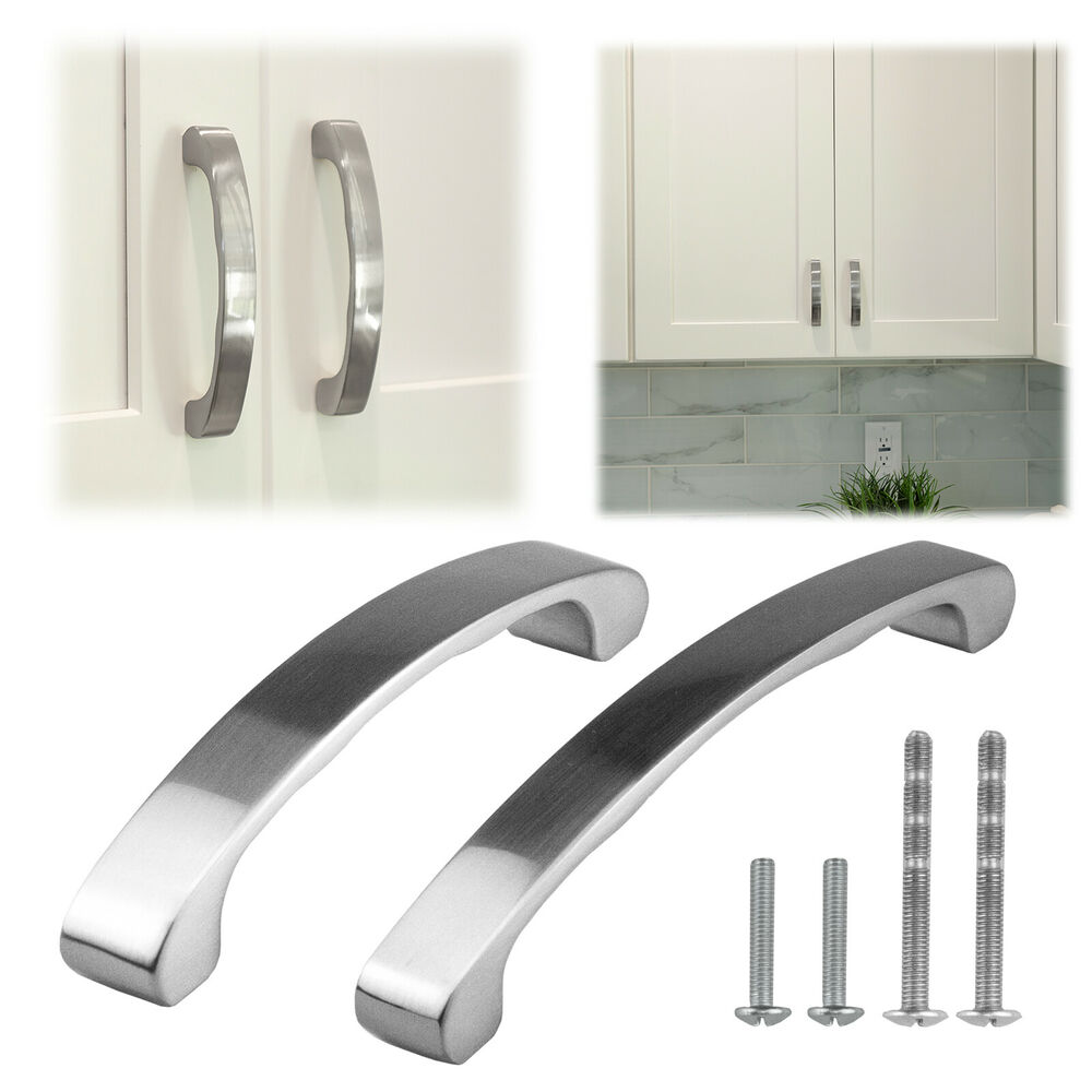 4 3 8 to 6 3 8 inch brushed satin nickel kitchen cabinet for 3 kitchen cabinet handles