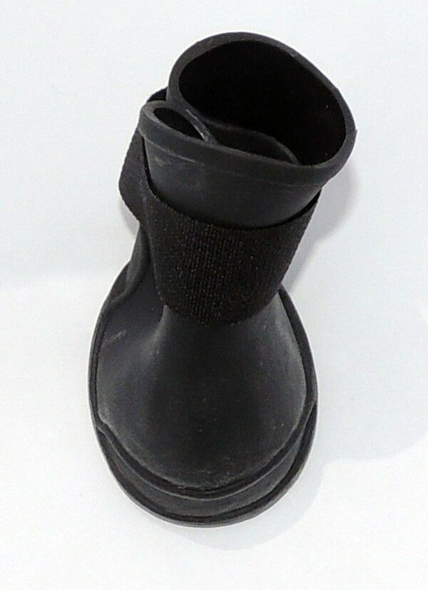 black anti slip waterproof pvc shoes boots