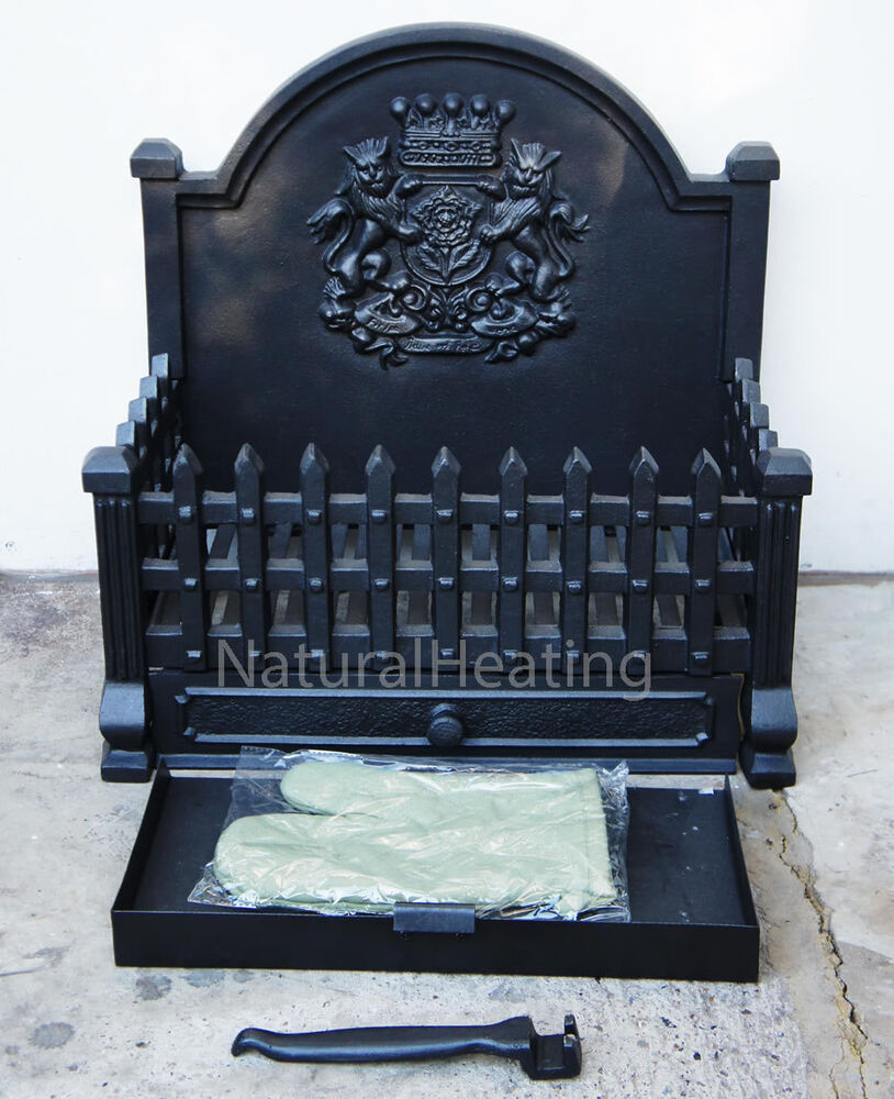 Royal cast iron dog grate open fire basket fireplace